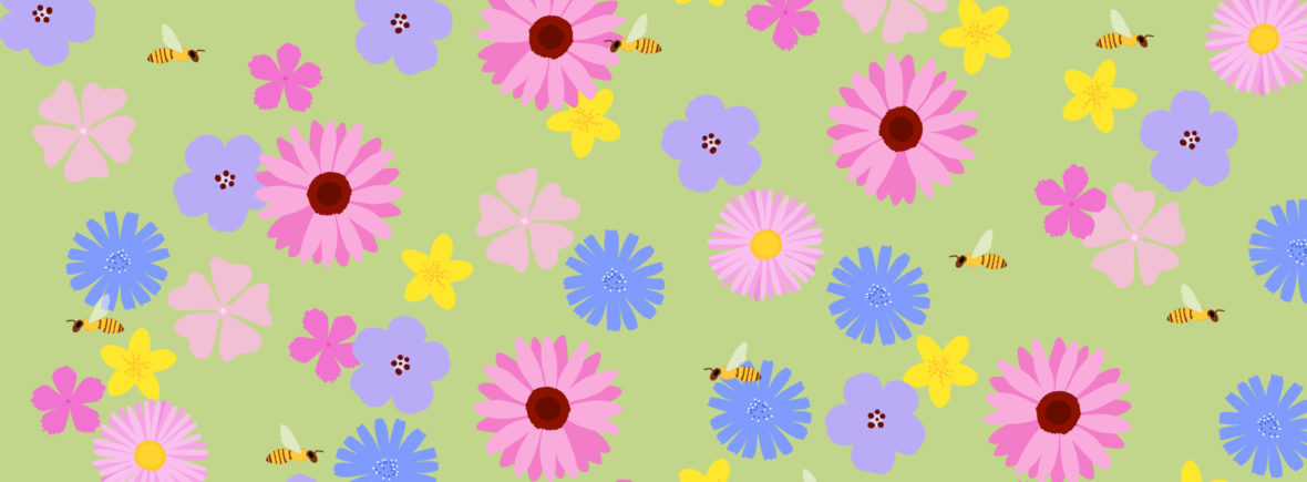 wallpaper - tapeta na plochu - včely na louce